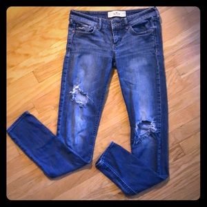 Hollister Skinny Distressed Jeans